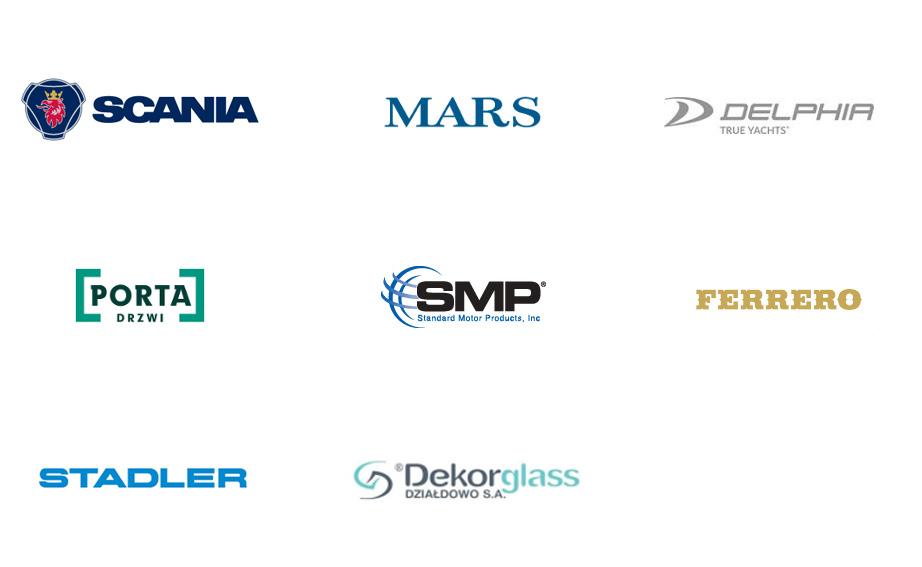Nasi klienci, logotypy Ideal Water